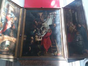 ルーベンスキリスト昇架はネロが最後に目指した絵ダイヤモンド研磨の聖地アントワープのノートルダムにある